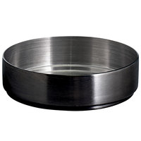 Front of the House DSD074BKS23 Soho 3 oz. Matte Black Brushed Stainless Steel Round Ramekin - 12/Case