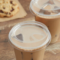 Choice 9, 12, 16, 20, and 24 oz. Clear Sip-Through Lid with Extra-Wide Opening   - 50/Pack