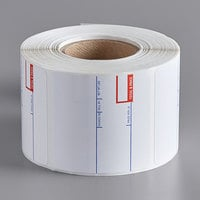 Cardinal Detecto 6600-3002 White Pre-Printed Equivalent Permanent Direct Thermal Label - 500/Roll