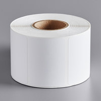 Globe E11 White Blank Equivalent Permanent Direct Thermal Label - 835/Roll