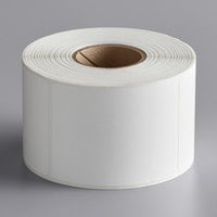 Globe E13 White Blank Equivalent Permanent Direct Thermal Label - 545/Roll
