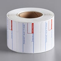 Cardinal Detecto 6600-3001 White Pre-Printed Permanent Equivalent Direct Thermal Label - 700/Roll