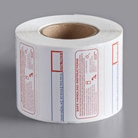 Cardinal Detecto 6600-3003 Safe Handling Pre-Printed Equivalent Permanent Direct Thermal Label - 500/Roll