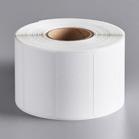 Globe E10 White Blank Equivalent Permanent Direct Thermal Label - 1200/Roll