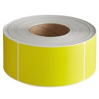 Lavex Industrial 3 inch x 5 inch Blank Yellow Thermal Transfer Permanent Label - 1200/Roll