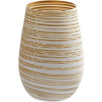 Stolzle S3525512T Twister 16.5 oz. White /Gold Stemless Wine Glass / Tumbler - 24/Case