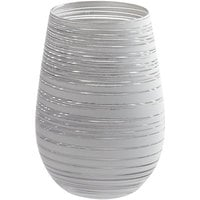 Stolzle S3525712T Twister 16.5 oz. White/Silver Stemless Wine Glass / Tumbler - 24/Case