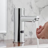 Waterloo EFDMRD Deck-Mounted Round Hands-Free Sensor Faucet with 4 1/2 inch Straight Spout