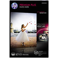 Hewlett-Packard CR668A Premium Plus 4 inch x 6 inch Glossy White Pack of 80# 11.5 Mil Photo Paper - 100 Sheets