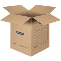 Banker's Box 7714001 SmoothMove Basic 18 inch x 18 inch x 24 inch Kraft Brown / Blue Large Moving Box   - 15/Case