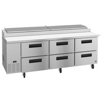 Hoshizaki PR93A-D6 93 inch 6 Drawer Refrigerated Pizza Prep Table