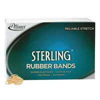 Alliance 24085 Sterling 7/8 inch x 1/16 inch Crepe #8 Rubber Bands, 6 lb. - 7100/Box