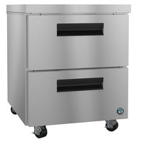 Hoshizaki UF27A-D2 27 inch Undercounter Freezer with 2 Drawers