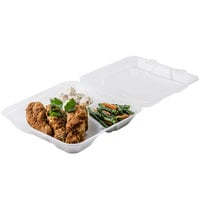 GET EC-06 9 inch x 9 inch x 2 3/4 inch Clear Customizable Reusable Eco-Takeouts Container - 12/Pack