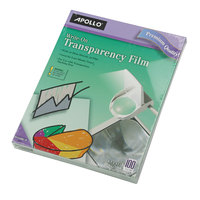 Apollo WO100CB Write-On Transparency Film - 100/Box