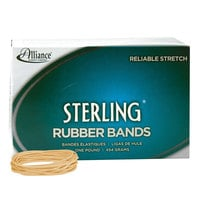 Alliance 24195 Sterling 3 1/2 inch x 1/16 inch Crepe #19 Rubber Bands, 6 lb. - 1700/Box