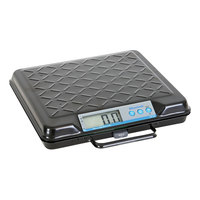 Brecknell GP100 100 lb. Black Portable Electric Utility Bench Scale with 12 inch x 10 inch Platform