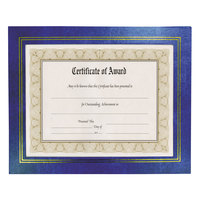 "NuDell 21201 8 1/2"" x 11"" Leatherette Blue Document Frame - 2/Pack"