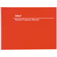 "Ideal DOMM2512 8 1/2"" x 11"" Wirebound Rental Property Record Book"