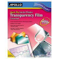 Apollo CG7033S Quick-Dry Color Inkjet Transparency Film - 50/Box