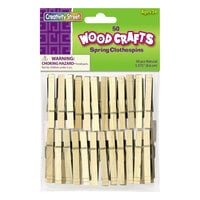 Creativity Street 365801 Wood Spring Clothespins   - 50/Pack