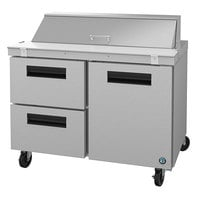 Hoshizaki SR48A-12D2 48 inch 1 Door, 2 Drawer Stainless Steel Refrigerated Sandwich Prep Table