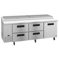 Hoshizaki PR93A-D4 93 inch 4 Drawer and 1 Door Refrigerated Pizza Prep Table