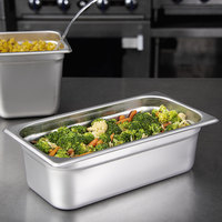 Carlisle 608134 DuraPan 1/3 Size 4 inch Deep Anti-Jam Stainless Steel Steam Table / Hotel Pan - 22 Gauge