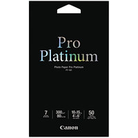 Canon 2768B014 Pro Platinum 4 inch x 6 inch High-Gloss White Pack of 11.8 Mil Photo Paper - 50 Sheets