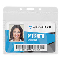 Advantus 75603 4 inch x 3 inch Horizontal PVC-Free Badge Holder - 50/Pack
