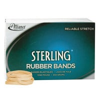 Alliance 24625 Sterling 2 1/2 inch x 1/4 inch Crepe #62 Rubber Bands, 24 lb. - 600/Box