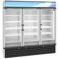 Hoshizaki RM-65-HC 78 inch Hinged Glass Door Refrigerated Merchandiser