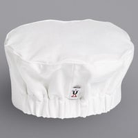 Uncommon Threads 0156C White Customizable Chef Skull Cap / Pill Box Hat