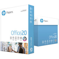 Hewlett-Packard 112103 8 1/2 inch x 11 inch White Case of 20# Office Paper - 2500 Sheets