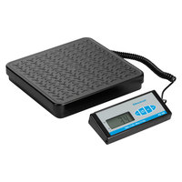 Brecknell PS400 400 lb. Black Bench Scale with Remote Display and 12 3/16 inch x 11 11/16 inch Platform