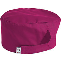 Uncommon Threads 0163 Berry Customizable Epic Chef Skull Cap / Pill Box Hat with Hook and Loop Closure
