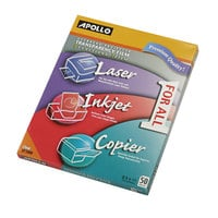 Apollo UF1000E Color Laser / Inkjet Transparency Film - 50/Box