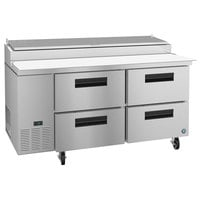 Hoshizaki PR67A-D4 67 inch 4 Drawer Refrigerated Pizza Prep Table