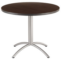 Iceberg 65624 CafeWorks 36 inch Walnut Melamine Round Cafe Table
