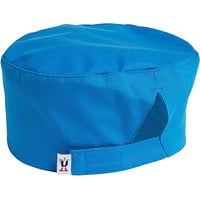 Uncommon Threads 0163 Cobalt Customizable Epic Chef Skull Cap / Pill Box Hat with Hook and Loop Closure