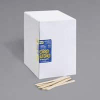 "Creativity Street 377401 Chenille Kraft 4 1/2"" x 3/8"" Natural Economy Wood Craft Sticks - 1000/Box"