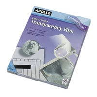 Apollo CG7060 Black / White Laser Transparency Film - 50/Box