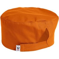 Uncommon Threads 0163 Carrot Customizable Epic Chef Skull Cap / Pill Box Hat with Hook and Loop Closure