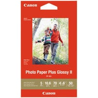 Canon 1432C005 4 inch x 6 inch Glossy White Pack of 70# Photo Paper Plus - 50 Sheets
