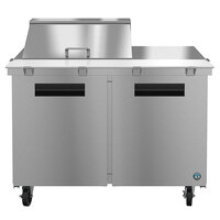 Hoshizaki SR48A-12M 48 inch 2 Door Mega Top Stainless Steel Refrigerated Sandwich Prep Table