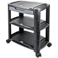 Alera ALEU3N1BL Black 3-in-1 Storage Cart and Stand