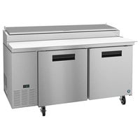 Hoshizaki PR67A 67 inch 2 Door Refrigerated Pizza Prep Table