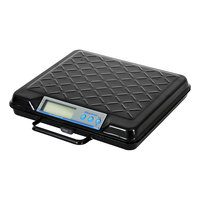 Brecknell GP250 250 lb. Black Portable Electric Utility Bench Scale with 12 inch x 10 inch Platform