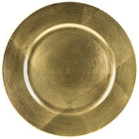 10 Strawberry Street LAG-24 13 inch Lacquer Round Gold Charger Plate