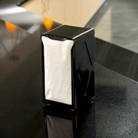 San Jamar H900BK Tallfold Two-Sided Tabletop Napkin Dispenser - Black